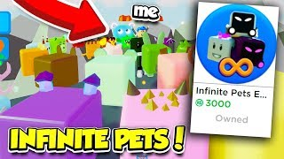 BUYING The INFINITE PET GAMEPASS In YOUTUBER SIMULATOR!! (Roblox)