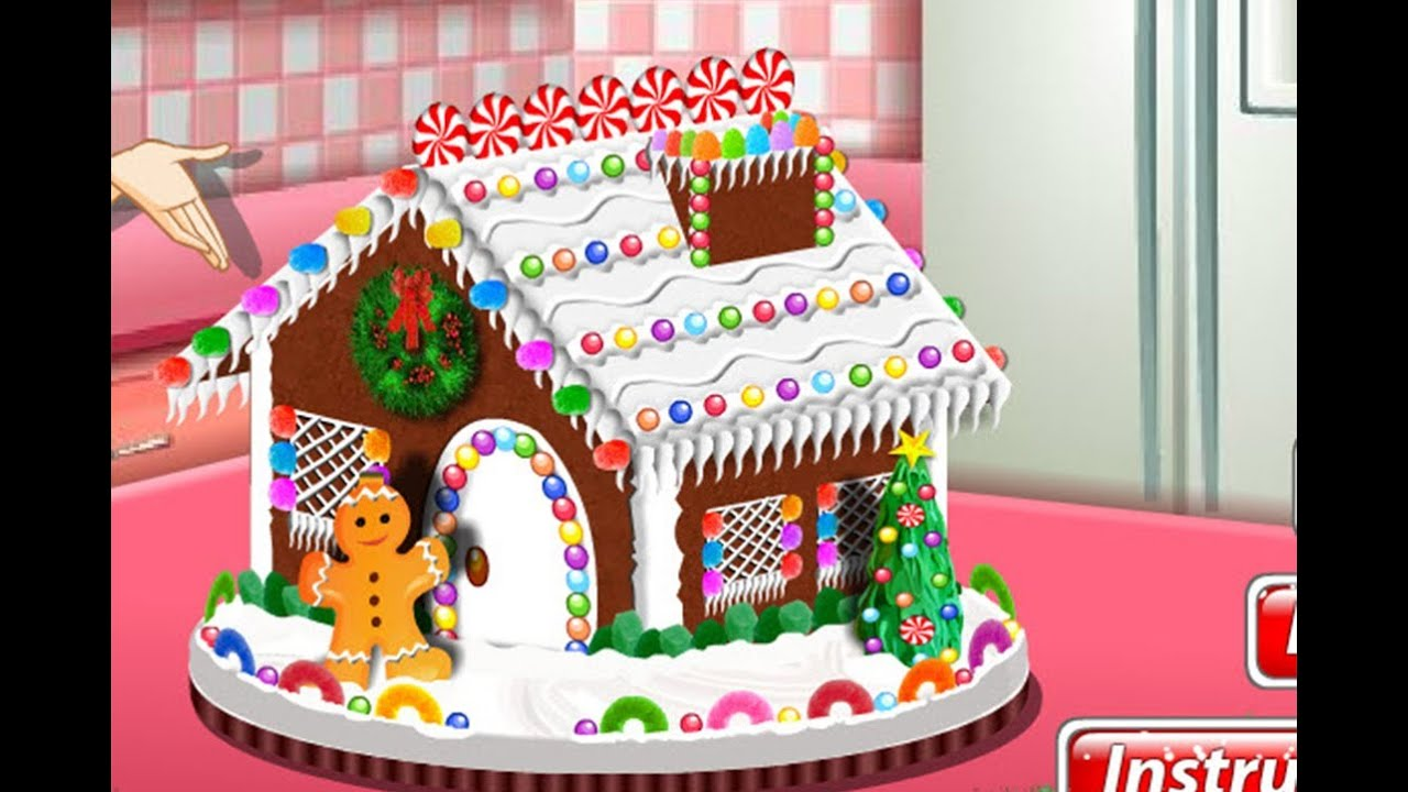 Cake house decorating games