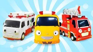 Die Helfer Autos arbeiten im Team  4 Kindervideos am Stück