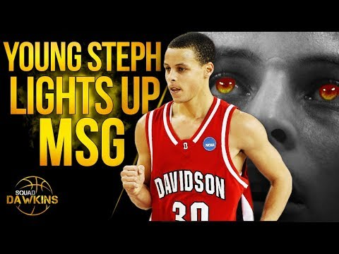 Davidson Steph Curry Puts On a CLUTCH Show On Both Ends at MSG | SQUADawkins