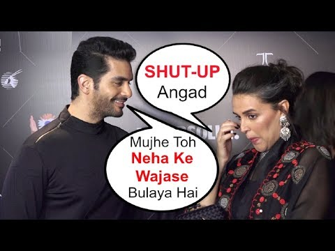 Angad Bedi TAUNTS Wife Neha Dhupia In Public | Vogue Beauty Awards 2018 thumbnail