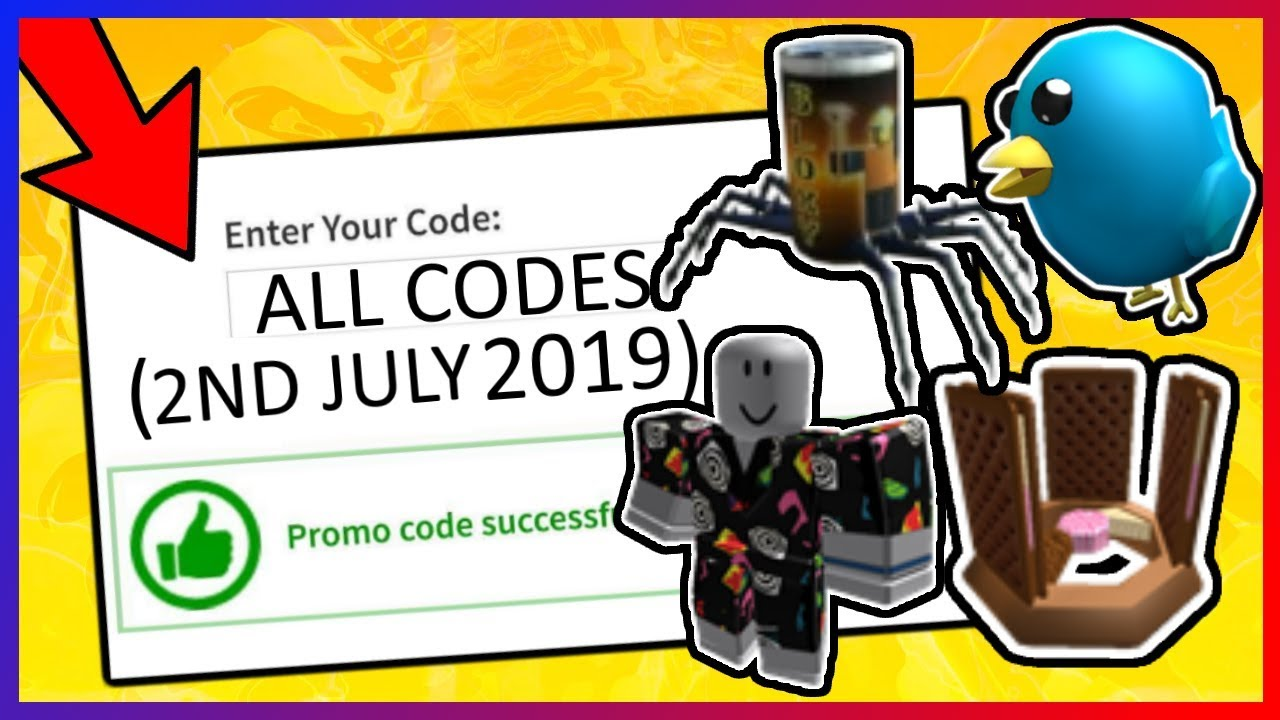 *5* NEW Active ROBLOX Event Promocodes (July 2019) - YouTube on Promo Code Roblox id=92998
