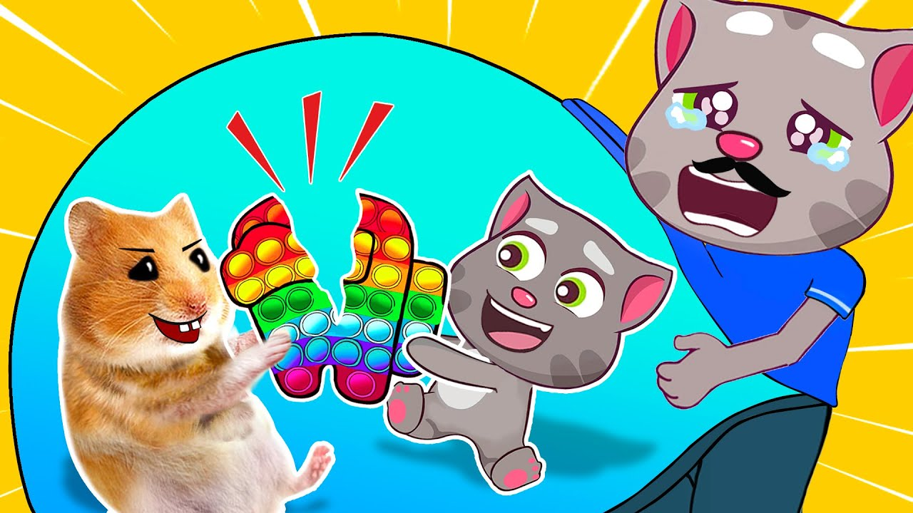 Hamster and Talking Tom Infants - Cartoon Hamster by Life Of Pets Hamham