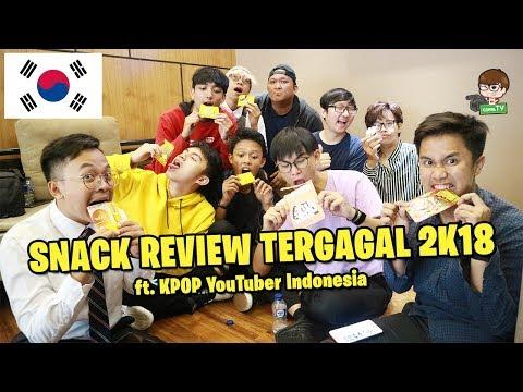 BUKAN KOREAN SNACK REVIEW!! ft. KPOP YouTuber Indonesia Boys