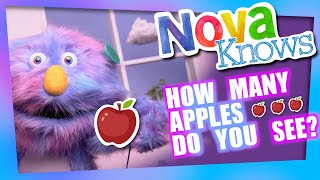 Nova Knows How to Count to 5 | Apples on the Tree | Kids Learn Numbers Colors and Fruits