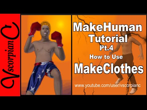 MakeHuman Tutorial - (Pt.4 ) Make Clothes that Fit 3D Models with Blender Addon by VscorpianC