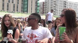 Wireless Festival 2013 with AJ King dancing Kiss FM