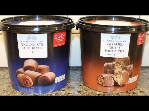 Marks & Spencer: Chocolate Mini Bites & Caramel Crispy Mini Bites Review