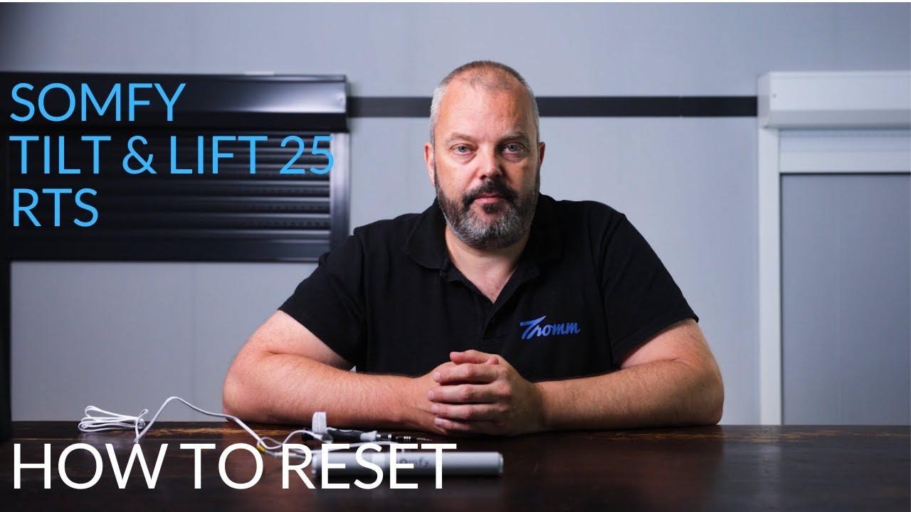 How to reset a Somfy 12V blind / shade motor (tilt & lift 25 RTS)