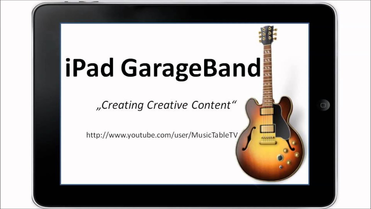 how to make a youtube video on garageband
