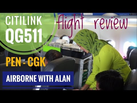 Airborne with Alan - 5 STAR Cabin Crew! Citilink PEN to CGK.
