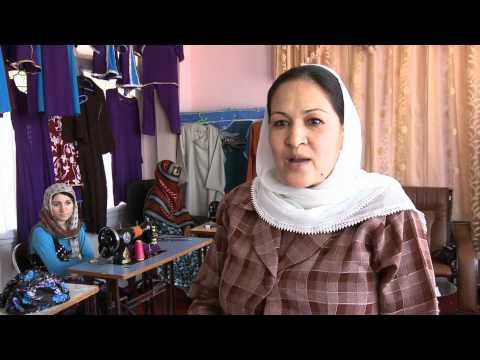 Womens in Faryab province - آموزش خیاطی برای زنان در ولایت فاریاب
