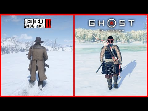 RDR 2 vs Ghost of Tsushima - Comparison of Details! Which is Best?