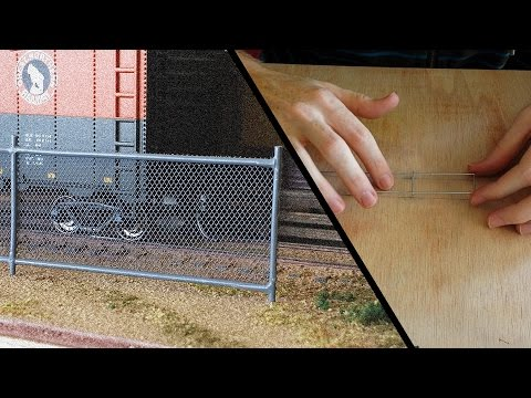 Chain Link Fence – Model Railroad Scenery