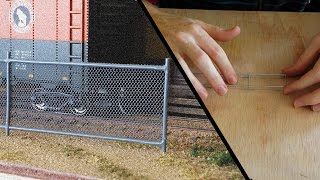 Model Railroad - How To - Chain Link Fence