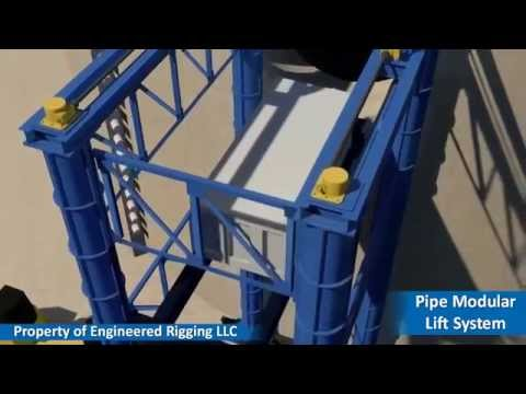 Pipe Modular Lift System by Engineered Rigging