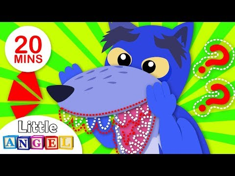 Free Download Where Are My Wolf Teeth? Yum Yum Vegetables, Wheels On The Bus | Nursery Rhymes By Little Angel Mp3 dan Mp4