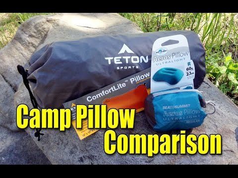 Reviewing the Teton ComfortLite and Sea To Summit Aeros Ultralight Camp Pillows
