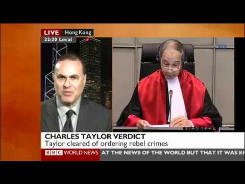Professor Gregory Gordon's BBC World News Analysis of Charles Taylor Verdict