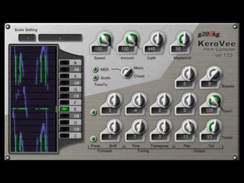 KERO VEE pitch correction / Autotune effect plugin for vocals BY g200kg