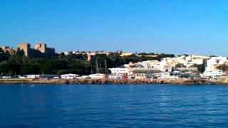 Wegvaren uit de haven Rhodos
