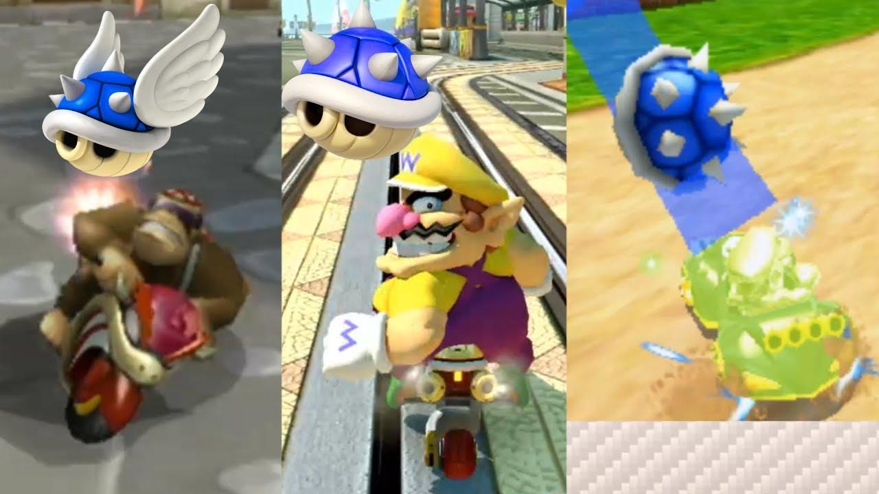 Mario Kart Blue Shell Montage Multiple Games 2 Youtube