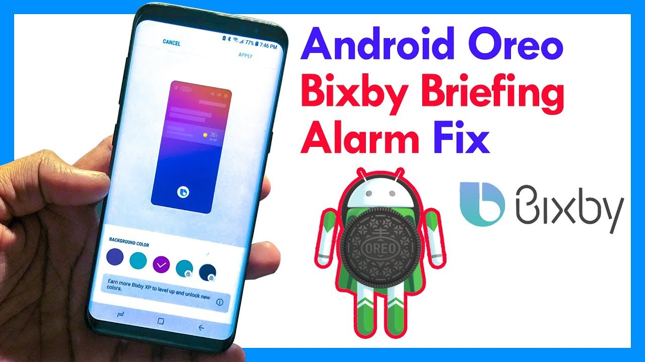 Fix Bixby Briefing Alarm Option Missing in Oreo Update - Samsung Galaxy S8,  S8 plus & Note 8