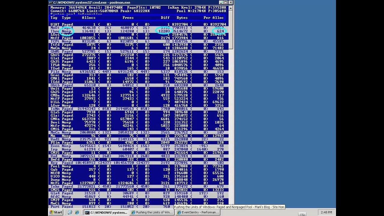 windows 7 poolmon.exe