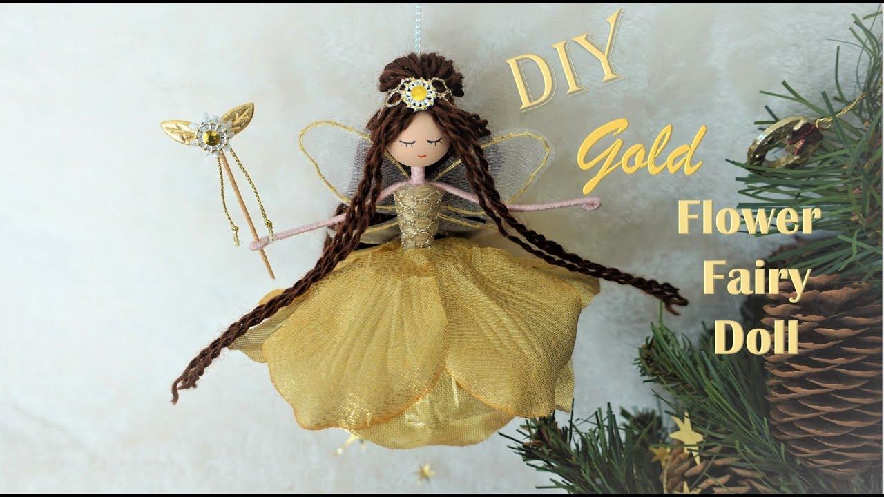 DIY Gold Flower Fairy Doll | Fairy Ornament| Huong Harmon