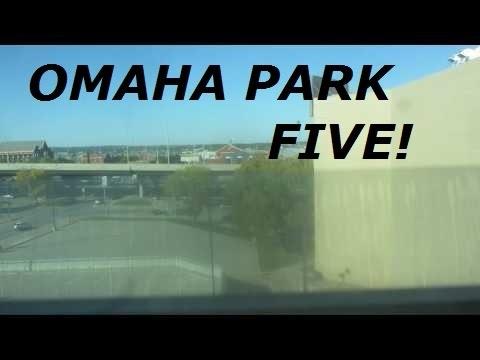 Montgomery KONE hydraulic elevator (rear) at Omaha Park 5 garage, Omaha NE