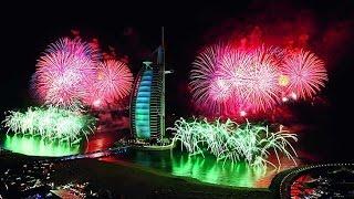 Dubai Fireworks Burj Alarab JBR Beach Fire Works New year Nights 2016-2017 Dubai , UAE