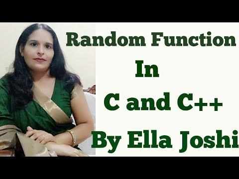 Random Function In C++