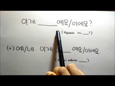 Dasar Bahasa Korea bersama Dewi Ssaem - Pekan 5