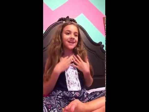 11 year old girl singing flashlight karaoke