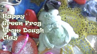 Make A Happy Green Frog Ornament With Salt Dough