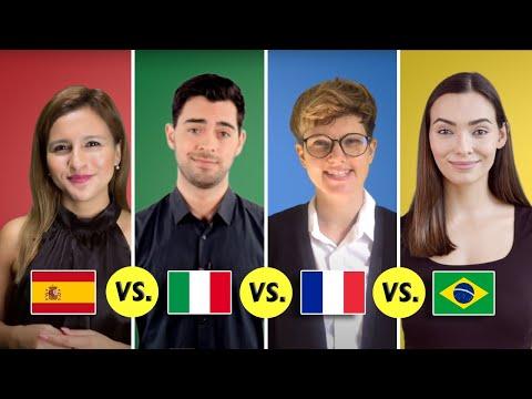 Spanish vs. Italian vs. French vs. Portuguese | Romance Languages Comparison
