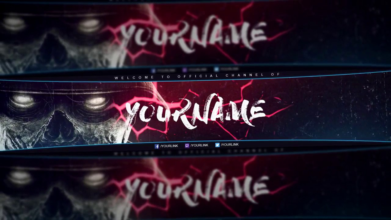 Free Gfx Gaming You Banner 2017 Psd Template Reupload