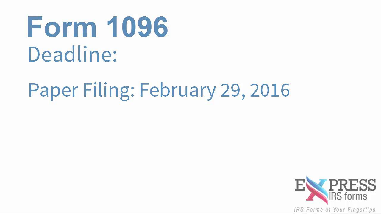 Form 1096 annual summary and transmittal return youtube falaconquin