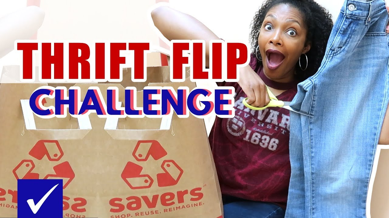 I literally CUT UP clothes in the dressing room!!! Thrift Flip Challenge 9