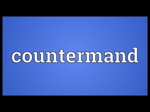 Header of countermand