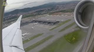 Powerful TakeOff with great Sau Paulo GRU airport views from Falcon 7X Private Jet!  [AirClips]
