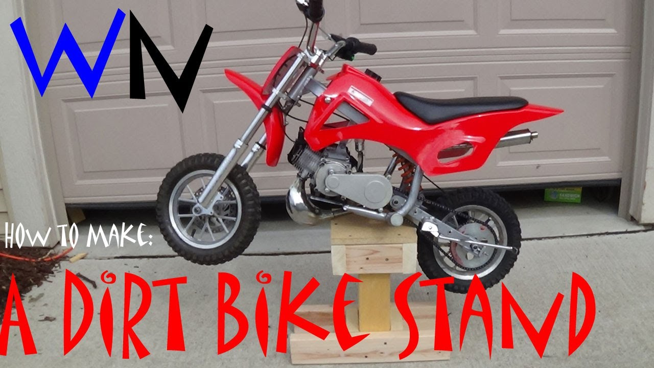How To Make A Dirt Bike Stand Youtube