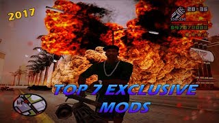 GTA San Andreas Top 7 Exclusive Mods 2017
