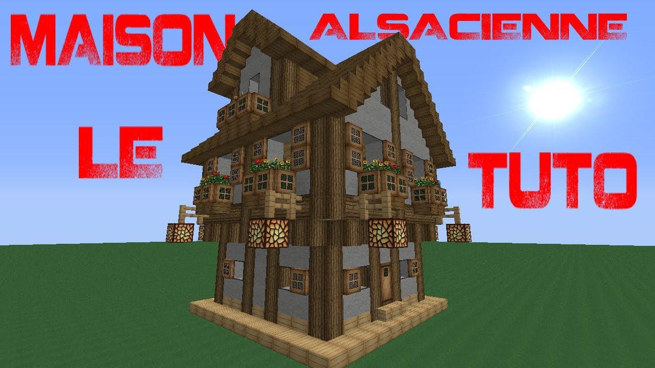 Tuto de belle maison alsacienne dans minecraft youtube - Minecraft tuto belle maison ...