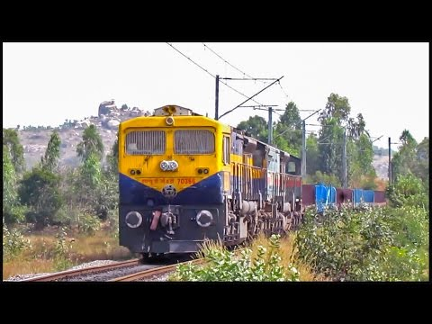 "Freight's with roaring Diesel""EMD"" locomotives : Indian Railways !!"