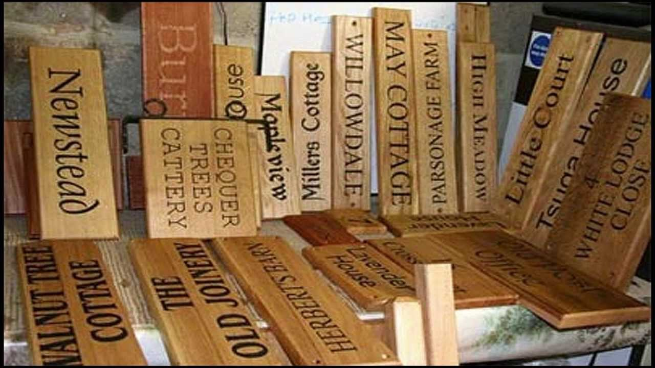 Wooden Signs, Wooden House Signs, Large Wood Sign | The Sign