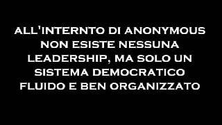 Chi sono gli anonymous e cos