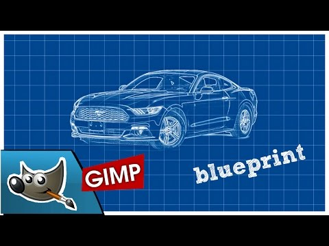 Gimp - Blueprint Effect