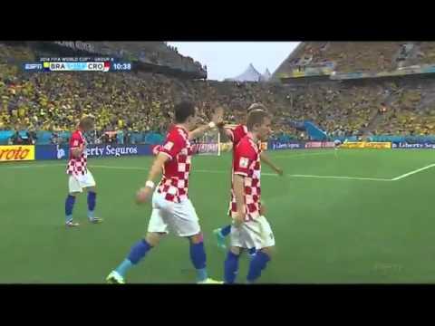 Marcelo Own Goal: Brazil vs Croatia 0 - 1 World Cup 2014 HD
