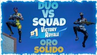 ¡¡DUO VS SQUAD EN ORO SOLIDO!! (Mí mejor video de fortnite) [SHIDUKS]